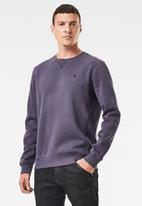 G-Star RAW - Premium core r long sleeve sweat - purple
