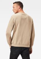 G-Star RAW - Premium core r long sleeve sweat - stone