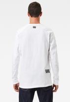 G-Star RAW - Multi logo+ korpaz r long sleeve tee - white
