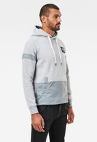 G-Star RAW - Prisoner mix hdd long sleeve sweat - grey