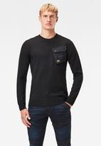 G-Star RAW - Army pkt r knit - black