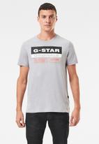 G-Star RAW - Originals label logo slim r short sleeve tee - grey