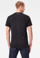 G-Star RAW - Running dog logo+ r short sleeve tee - black