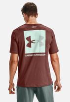 Under Armour - Ua box logo tee - cinna red