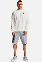 Under Armour - Ua rival fleece big logo shorts - grey