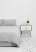 T-shirt Bed Co. - T-shirt cotton duvet cover set - soft grey