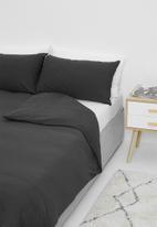 T-shirt Bed Co. - T-shirt cotton duvet cover set - deep charcoal