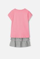 name it - Vegas top & skirt set - pink