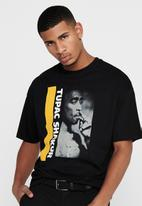 Only & Sons - Tupac life ovz short sleeve tee - black