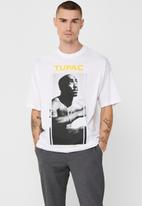 Only & Sons - Tupac life ovz short sleeve tee - white