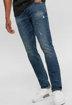 Only & Sons - Loom life slim can blue jeans - mid blue