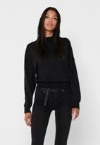 Jacqueline de Yong - Gianna life long sleeve oversized sweat - black