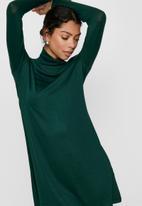 Jacqueline de Yong - Giala turtleneck dress - green