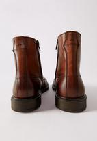 MANGO - Ankle boots puntera - brown