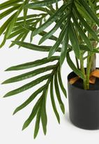 Silk By Design - Areca palm tree in pot - green