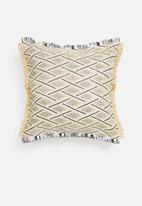 Sixth Floor - Coron raffia outdoor cushion - grey & natural