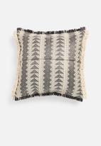 Sixth Floor - Paros raffia outdoor cushion- black & natural