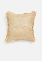 Sixth Floor - Tulum raffia outdoor cushion cover - natural