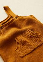 MANGO - Lucky suit romper - brown