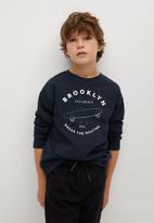 MANGO - Gameday sweatshirt - navy