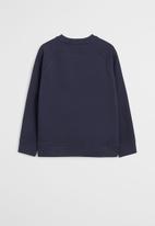 MANGO - Basic crew neck sweatshirt - navy