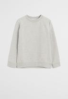 MANGO - Basic crew neck sweatshirt - grey