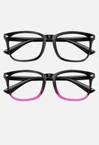 Sophie Moda - Anti blue light glasses - gradient pink & black