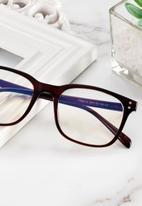 Sophie Moda - Anti blue light glasses - brown