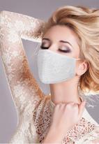 Sophie Moda - 2 pack lace face mask - black & white