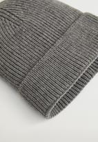 MANGO - Hat large - grey