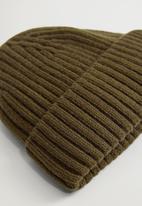 MANGO - Hat short - beige & khaki