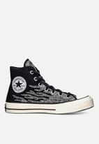 Converse - Chuck 70 archive glitter hi - black/egret/black - glitter shine