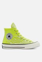 Converse - Chuck 70 archive glitter hi - lemon venom/egret/black - glitter shine