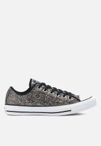 Converse - Chuck taylor all star all-over glitter ox - black/black/white