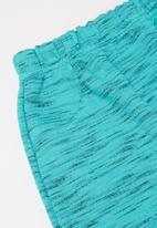Quimby - Boys ribbed bodysuit & pants set - blue