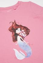 name it - Jully printed short sleeve tee - pink