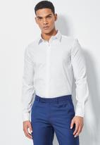 Superbalist - Jos slim fit long sleeve shirt - white