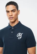 Aca Joe - Aca joe big aj logo golfer - navy