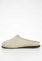 Karu - Clog suede wool inner slipper - sand