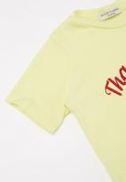 Sticky Fudge - Girls granadilla lolly tee - yellow