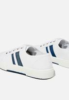 Cotton On - Lisa lace up plimsoll - white navy stripe