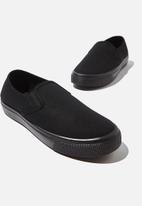 Cotton On - Harper slip on - black/black
