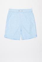 Free by Cotton On - Boys volly short - ditsy & sky haze