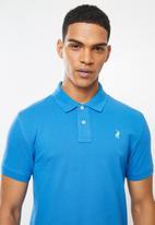 POLO - Carter custom fit pique golfer - blue