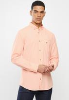 POLO - Jason textured signature shirt - coral