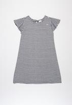 Quimby - Stripe woven dress - navy & white
