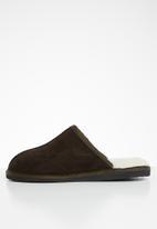 Karu - Mule suede wool inner slipper - brown