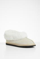 Karu - Cosy suede wool inner slipper - sand