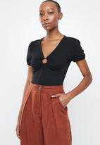 Glamorous - Bodysuit with ring detail - black