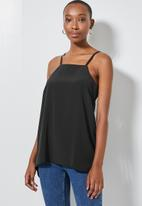 Superbalist - Square neck longline cami - black